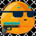 Hitman Emoji Face Icon