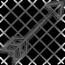Hitting Arrow Archery Arrow Dartboard Arrow Icon