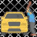 Hitting Car Damaging Car Car Accident Icon