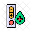 Hiv Positive Test Aids Positive Test Hiv Test Icon