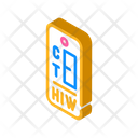 Hiv Test Isometric Icon