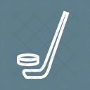 Hockey Stick Ball Icon