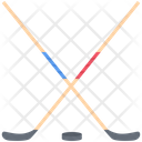 Hockey Stick Puck Icon