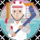 Sports Hockey Player Icon