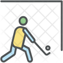 Hockey Player Action Icon