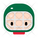 Winter Christmas Character Icon
