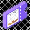 Hockey Match Ticket Voucher Hockey Pass Icon