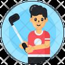 Sportsman Player Hockey Player Icon