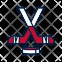 Hockey Sricks And Puck Icon