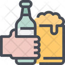 Hold Beer Bottle Icon