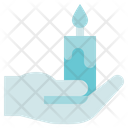 Funeral Hold Candle Light Icon