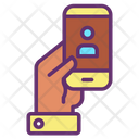 Hold User Mobile Icon