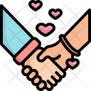 Holding Hand Love Icon