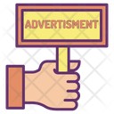 Holding Advertising Board Icon