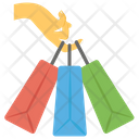 Holding Bags Shopping Bags Purchaser Icon