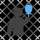 Holding Balloons Icon