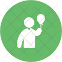 Holding Balloons Icon