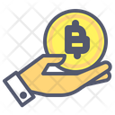 Bitcoin Holding Bitcoin Investor Icon