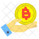 Holding bitcoin Icon