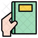 Holding Book Icon