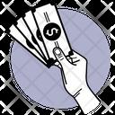 Holding Cash Cash On Hand Dollar Cash Icon