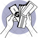 Holding Cash And Wallet Holding Wallet Wallet Icon