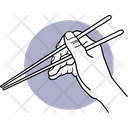 Holding Chopstick Chinese Stick Eating Tool Icon