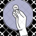 Holding Coin Cent Coin Coin Icon