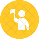 Holding flag Icon