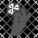 Holding Flower Holding Clover Icon