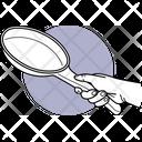 Holding Frying Pan Frying Pan Ktichen Utensil Icon