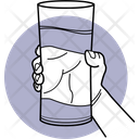 Holding Glass Of Water Holding Water Glass Glass Icon