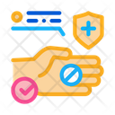Hand Holding Medical Icon
