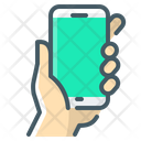 Holding Mobile Mobile Phone Icon