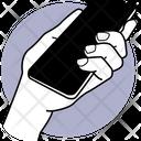 Holding Phone Phone Holding Holding Smartphone Icon