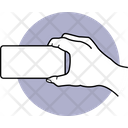 Holding Phone Holding Mobile Smartphone Icon