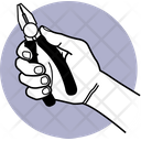 Holding Pliers Hand Holding Icon