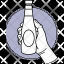 Holding Sauce Bottle Icon