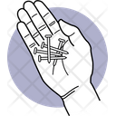 Holding Screw Screws Hand Icon