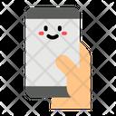 Holding Smartphone Telephone Hand Icon