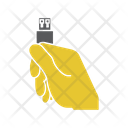 Holding Memory Flashdrive Icon