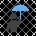 Holding umbrella Icon