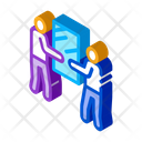 People Holding Glass Icon