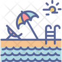 Swimming Pool Vacation Icon