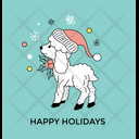 Holiday Reindeer Funny Icon