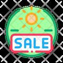 Summer Holidays Sale Icon