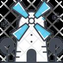 Holland Windmill Windmill Kinderdijk Icon