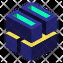 Geometric Cube 3 D Icon