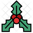 Holly Holly Berry Christmas Decoration Icon