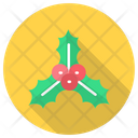 Berry Christmas Holly Icon